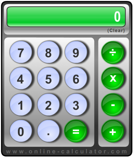 Big Button Calculator